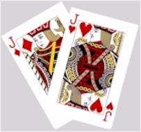 Euchre. The two red bowers